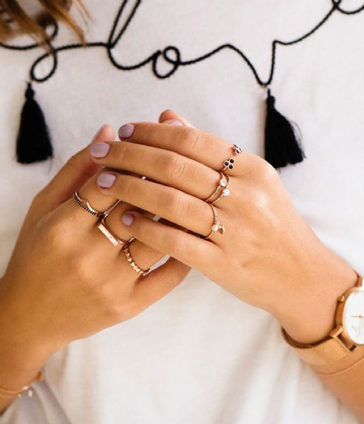 CLUSE Ring Essentiele All Hexagons Ring rose gold plated (CLJ40006)